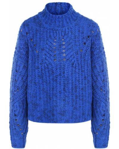 Вязаный свитер с воротником-стойкой шерстяной Isabel Marant