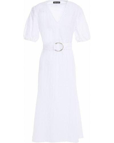 Хлопковое платье миди - белое Markus Lupfer
