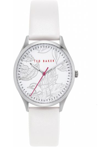 Biały zegarek srebrny Ted Baker