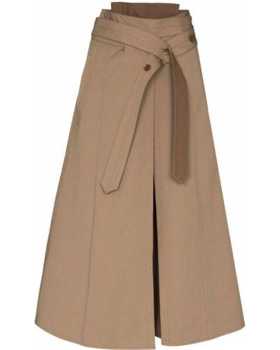 Spódnica asymetryczna - brązowa Lemaire