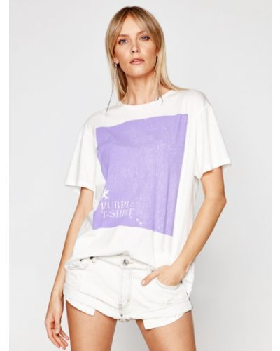 T-shirt - biała One Teaspoon