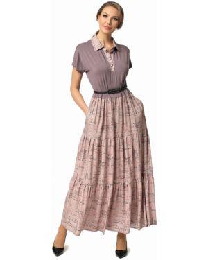 Платье с поясом на пуговицах платье-сарафан Dizzyway