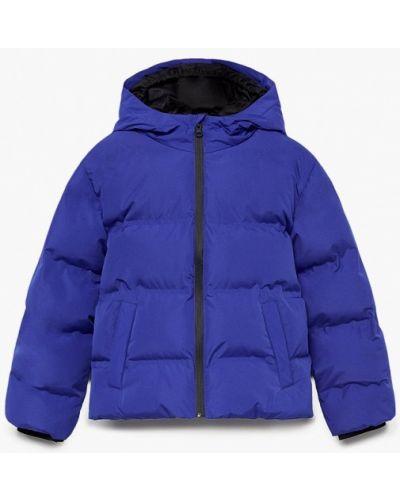 Утепленная синяя куртка Mango Kids