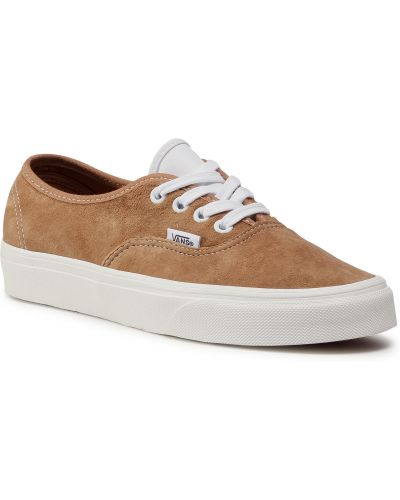 Skórzany brązowy skórzane sneakersy Vans