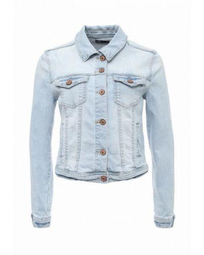 Джинсовая куртка весенняя голубая Oodji
