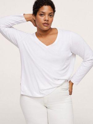 Белая футболка осенняя Violeta By Mango