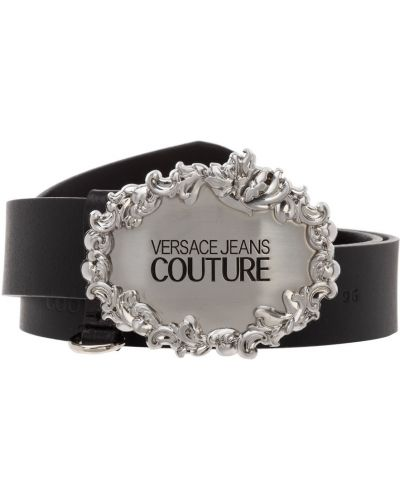 Czarny pasek z paskiem Versace Jeans Couture