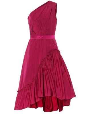 Шелковое розовое платье миди Max Mara
