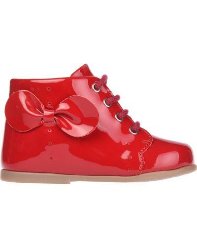 Ботинки лаковые красные Jacadi Paris
