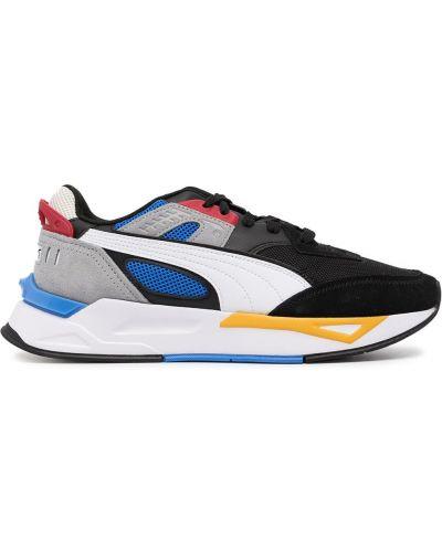 Черные кроссовки с логотипом Puma