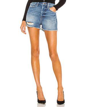 Короткие шорты с завышенной талией винтажные Frame