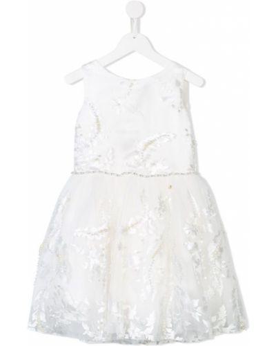 Платье с рукавами из фатина плиссированное Le Mu