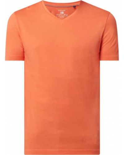 T-shirt bawełniany z dekoltem w serek Christian Berg Men