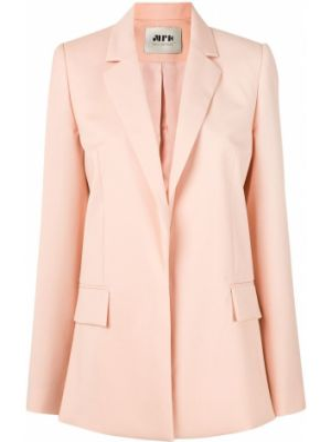 Шерстяной розовый пиджак с карманами Maison Rabih Kayrouz