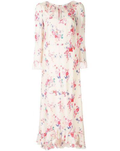 Платье шелковое с цветочным принтом Vilshenko