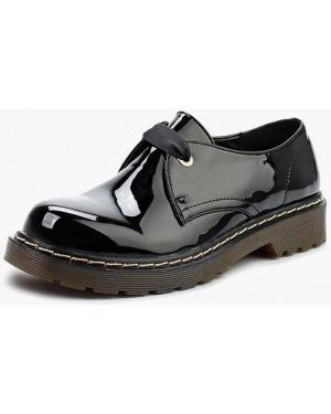 Ботинки на каблуке осенние кожаные Super Mode