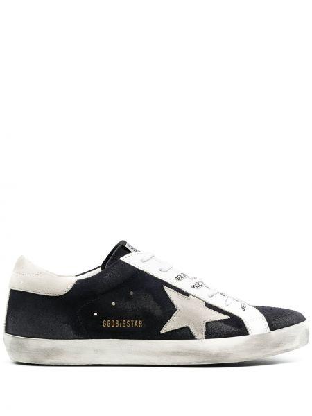 Biały włókienniczy sneakersy okrągły nos zasznurować Golden Goose