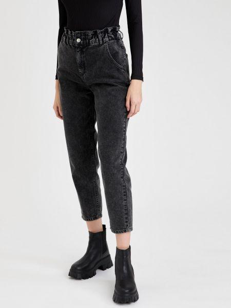 Хлопковые джинсы на резинке на молнии Defacto