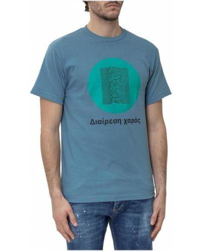 Niebieski t-shirt z printem Pleasures