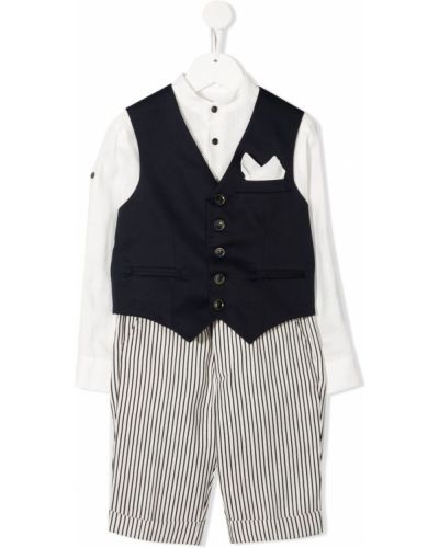 Biały garnitur bawełniany z długimi rękawami Colorichiari