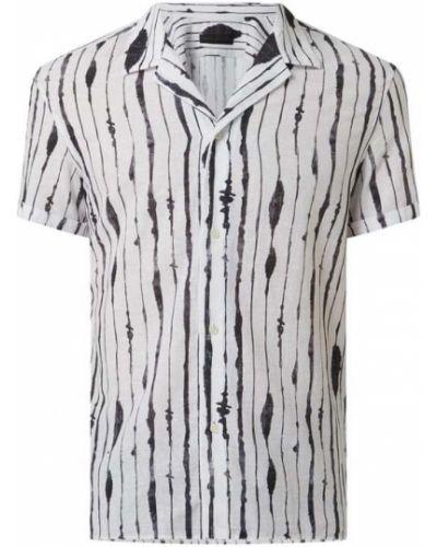 Koszula krótki rękaw bawełniana w paski Drykorn