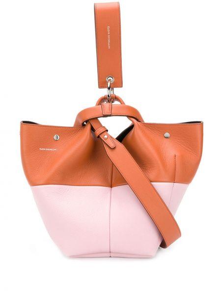Коричневая кожаная сумка Elena Ghisellini
