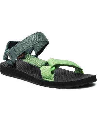 Zielone klasyczne sandały Teva