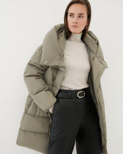 Зеленое теплое пальто Zarina
