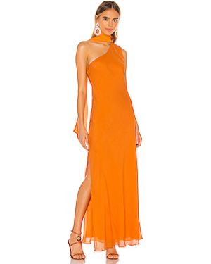 Вечернее платье на молнии шелковое Ronny Kobo