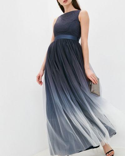 Синее вечернее платье Seam