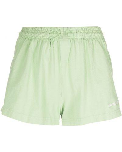Zielone szorty bawełniane Sporty And Rich