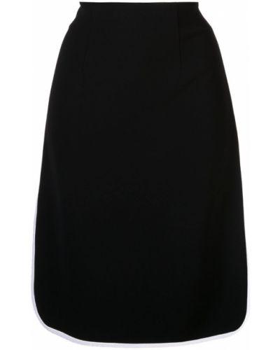 Черная юбка миди в рубчик Robert Rodriguez Studio