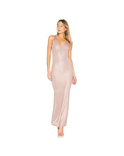 Платье макси в рубчик розовый Privacy Please