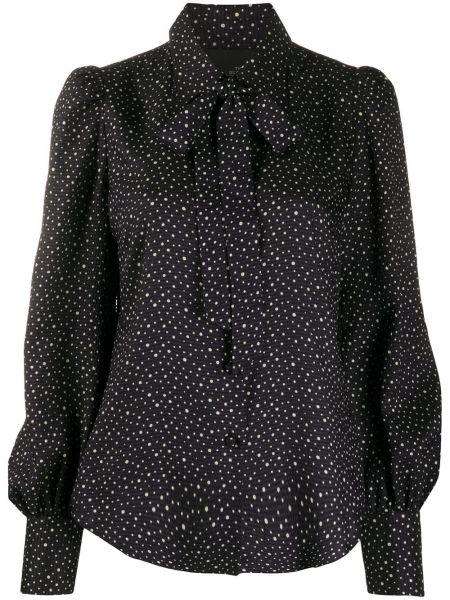 Черная классическая рубашка с воротником в горошек Marc Jacobs
