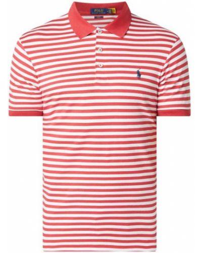 Z paskiem bawełna bawełna t-shirt z mankietami Polo Ralph Lauren