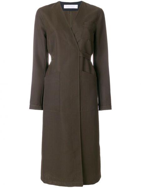 Płaszcz wełniany zielony Victoria Beckham