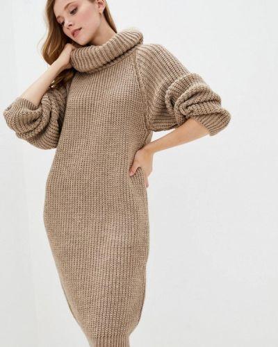 Бежевое вязаное платье Прованс