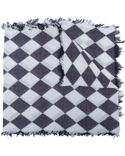 Czarny szalik z jedwabiu z printem Undercover