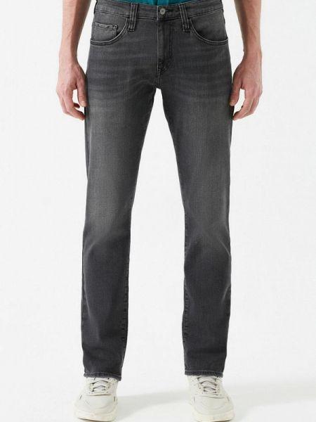 Серые прямые джинсы с жемчугом Mavi