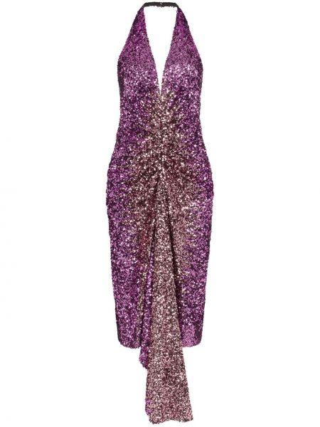 Fioletowa sukienka Halpern