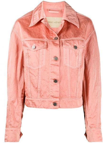 Розовая куртка с воротником на пуговицах Christian Wijnants
