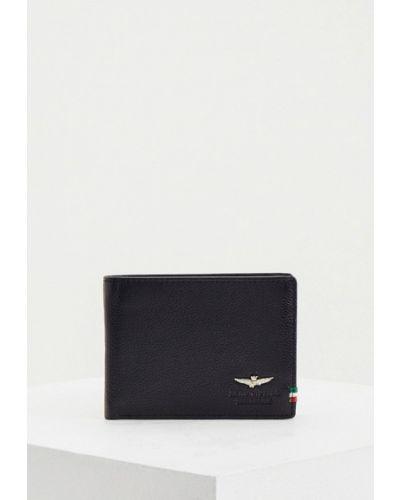 Кожаный портмоне - черный Aeronautica Militare