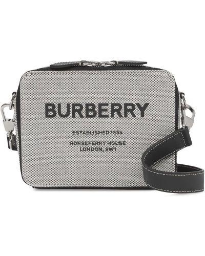 Czarna torebka crossbody skórzana z printem Burberry