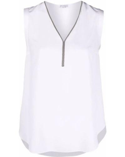 Biała koszulka Brunello Cucinelli