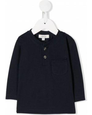 Niebieski t-shirt z długimi rękawami bawełniany Aletta