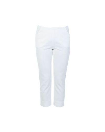 Летние брюки из вискозы белые Giorgio Armani