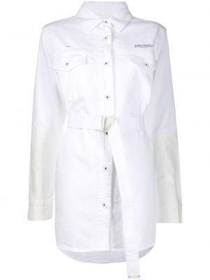 Biała klasyczna koszula bawełniana z długimi rękawami Off-white