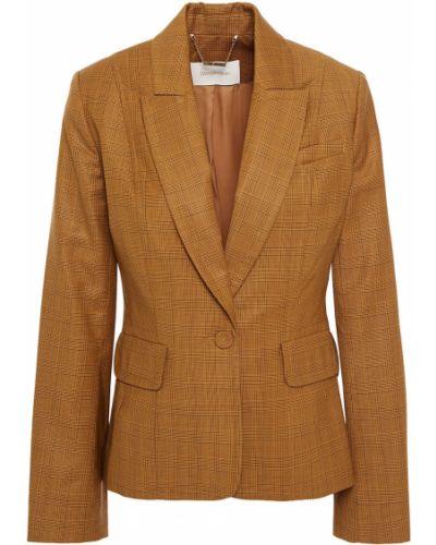 Шерстяной желтый пиджак с карманами Zimmermann