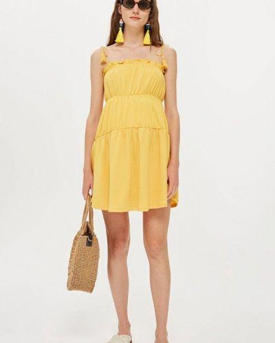 Желтый сарафан Topshop Maternity