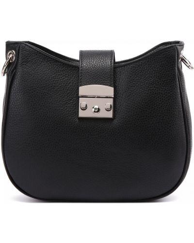Черная итальянская сумка Fabi